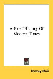 Cover of: A brief history of modern times