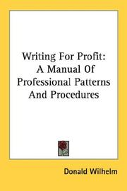 Cover of: Writing for profit