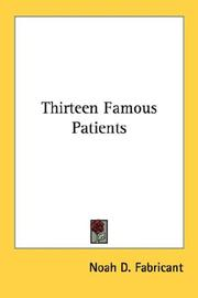 Cover of: Thirteen Famous Patients
