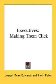 Cover of: Executives | Joseph Dean Edwards