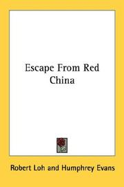 Cover of: Escape from Red China