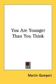 Cover of: You are younger than you think