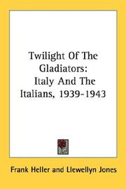 Cover of: Twilight Of The Gladiators