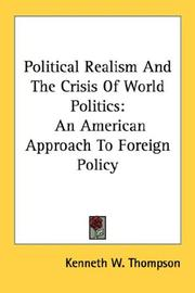 Cover of: Political Realism And The Crisis Of World Politics
