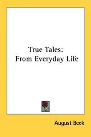 Cover of: True Tales | August Beck