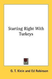 Cover of: Starting Right With Turkeys | G. T. Klein