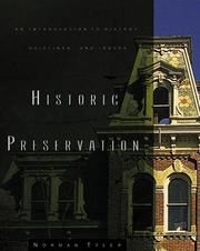 Cover of: Historic preservation