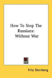 Cover of: How To Stop The Russians