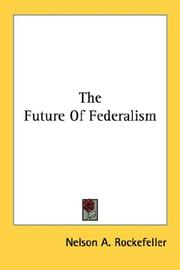 Cover of: The future of federalism