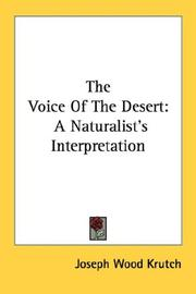 Cover of: The Voice Of The Desert