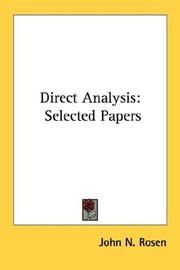 Cover of: Direct analysis