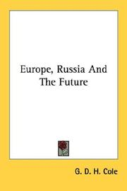 Cover of: Europe, Russia and the future