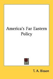 Cover of: America's Far Eastern policy