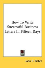 Cover of: How To Write Successful Business Letters In Fifteen Days