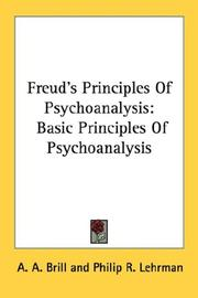 Cover of: Freud's Principles Of Psychoanalysis