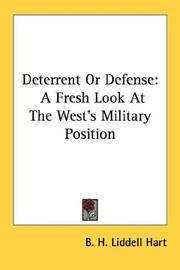 Cover of: Deterrent Or Defense