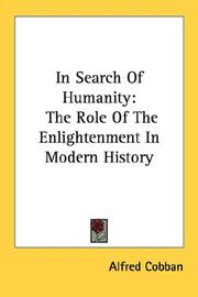 Cover of: In Search Of Humanity | Alfred Cobban