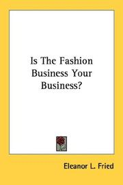 Cover of: Is the fashion business your business?