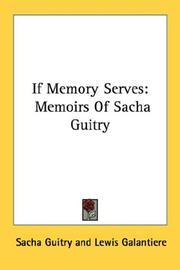 Cover of: If memory serves