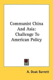 Cover of: Communist China and Asia