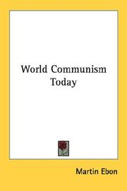 Cover of: World Communism Today