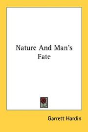 Cover of: Nature And Man