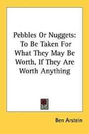 Cover of: Pebbles Or Nuggets | Ben Arstein
