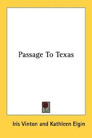 Cover of: Passage To Texas | Iris Vinton