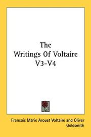 Cover of: The Writings Of Voltaire V3-V4 | Voltaire