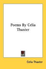 Cover of: Poems By Celia Thaxter