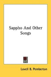 Sappho And Other Songs