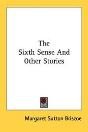 Cover of: The Sixth Sense And Other Stories
