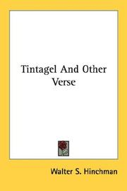 Cover of: Tintagel And Other Verse