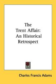 Cover of: The Trent Affair