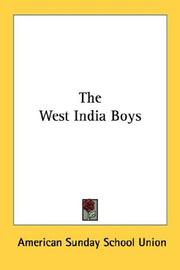 Cover of: The West India Boys