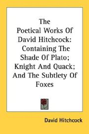 Cover of: The Poetical Works Of David Hitchcock | David Hitchcock