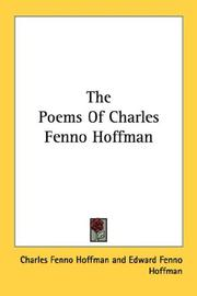 Cover of: The Poems Of Charles Fenno Hoffman | Charles Fenno Hoffman