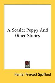 Cover of: A Scarlet Poppy And Other Stories