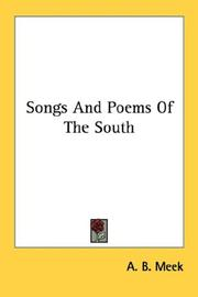 Cover of: Songs And Poems Of The South