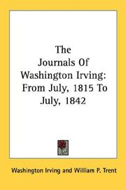 Cover of: The Journals of Washington Irving