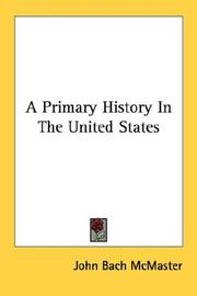 Cover of: A primary history in the United States