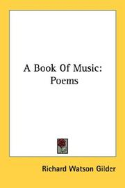 Cover of: A book of music