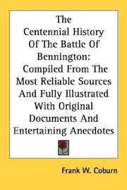 Cover of: The Centennial History Of The Battle Of Bennington | Frank W. Coburn