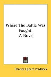Cover of: Where the battle was fought