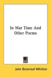 Cover of: In war time, and other poems