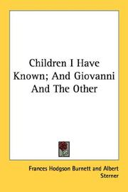 Cover of: Children I have known and Giovanni and the other