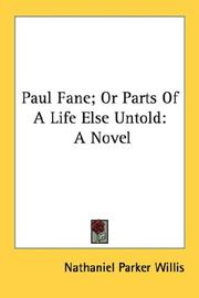 Cover of: Paul Fane, or, Parts of a life else untold