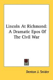 Cover of: Lincoln At Richmond