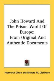 Cover of: John Howard And The Prison-World Of Europe