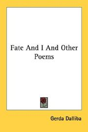 Cover of: Fate And I And Other Poems